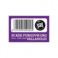 PEGATINA XI KDD FURGOVW.ORG...